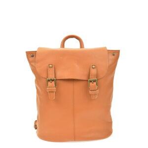 Hnědý kožený batoh Roberta M