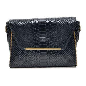 Černá kožená kabelka Luisa Vannini, 22 x 16 cm