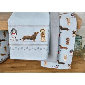 Sada 3 kuchyňských utěrek Cooksmart ® Curious Dogs
