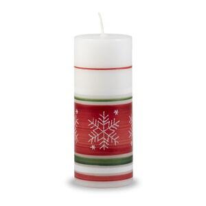Bílo-červená svíčka Unipar Winter Time, doba hoření 30 h