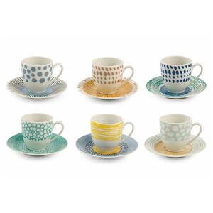 12dílný sada porcelánových šálků na espresso Villa d'Este Marea
