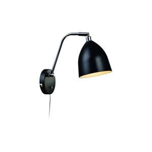 Černé nástěnné svítidlo Markslöjd Fredrikshamn