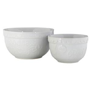 Sada 2 bílých kameninových misek Premier Housewares