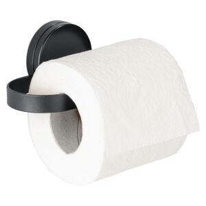 Černý držák na toaletní papír Wenko Static-Loc® Pavia