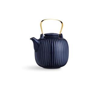 Tmavě modrá porcelánová čajová konvice Kähler Design Hammershoi, 1,2 l