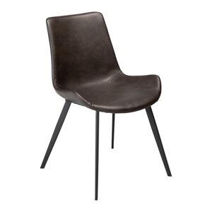 Šedá jídelní židle z eko kůže DAN–FORM Denmark Hype