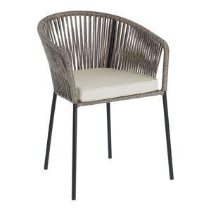 Šedá zahradní židle s ocelovou konstrukcí La Forma Yanet