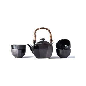 Černý čajový set MIJ Gunmetal