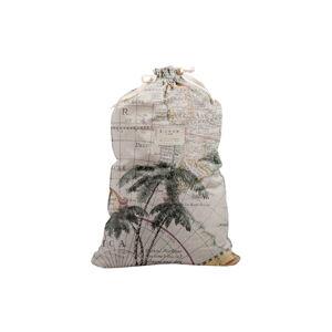 Látkový vak na prádlo s příměsí lnu Linen Couture Bag Palm Trees, výška 75 cm