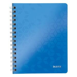 Modrý linkovaný blok Leitz A5, 80 stran