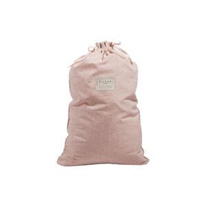 Látkový vak na prádlo s příměsí lnu Linen Couture Bag Rose, výška 75 cm