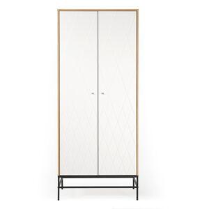 Bílá šatní skříň Woodman Mia