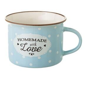 Modrý hrneček z kostního porcelánu Unimasa Homemade, 170ml