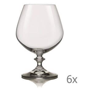 Sada 6 sklenic na brandy Crystalex Angela,400ml