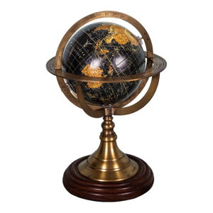 Dekorativní globus s podstavcem z palisandrového dřeva Antic Line Globe,ø17cm