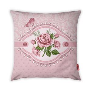 Povlak na polštář Vitaus Rustic Vintage Rosa Uno, 43 x 43 cm