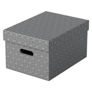 Sada 3 šedých úložných boxů Leitz Eselte,26,5x36,5cm