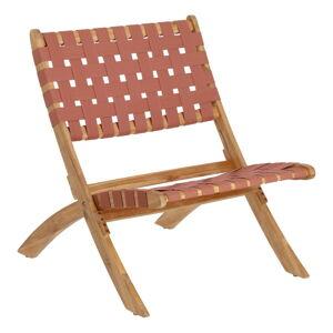 Zahradní skládací židle v barvě terakota z akáciového dřeva La Forma Chabeli