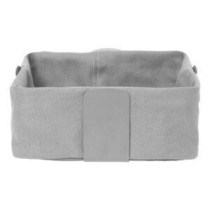 Světle šedý textilní košík na chléb Blomus Bread, 26 x 26 cm