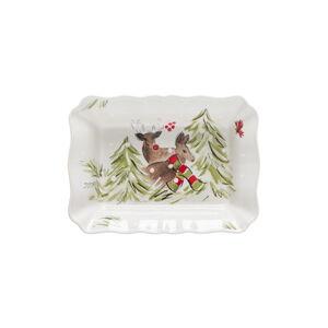 Kameninová zapékací mísa Casafina Deer Friends, 30 x 22 cm