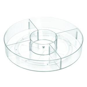 Kulatý transparentní úložný box iDesignTheHomeEdit, ⌀45,7cm