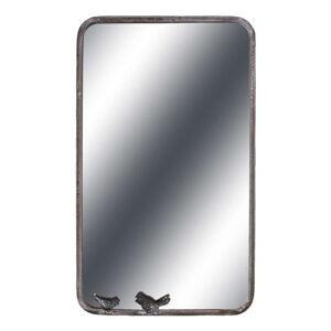 Šedé nástěnné zrcadlo Antic Line Oiseau