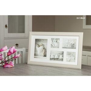 Béžový rámeček na 5 fotografií Styler Malmo, 51x27cm