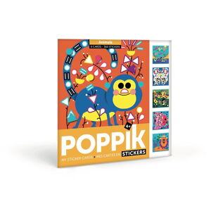 Kreativní samolepkové karty Poppik Zvířátka