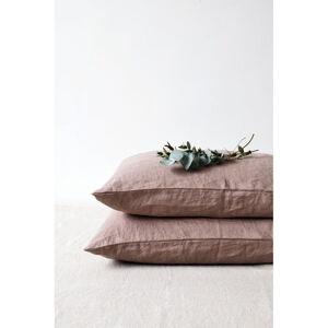 Starofialový lněný povlak na polštář Linen Tales, 70 x 90 cm