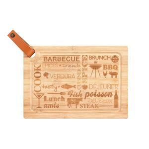 Krájecí prkénko z bambusového dřeva Wenko Steak Board, 33 x 23 cm