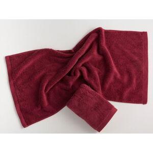 Tmavě červený bavlněný ručník El Delfin Lisa Coral, 30 x 50 cm