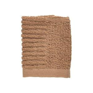 Jantarově hnědý ručník ze 100% bavlny na obličej Zone Classic Amber, 30x30cm