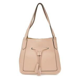 Světle růžová kožená kabelka Roberta M