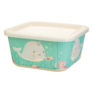 Dětský zelený obědový box Sass & Belle Alma Narwhal