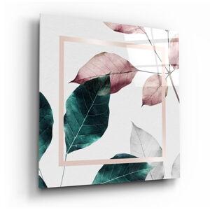 Skleněný obraz Insigne Scandinavian Style Leaves,100 x100cm