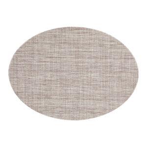 Hnědošedé prostírání Tiseco Home Studio Oval, 46 x 33 cm