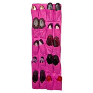 Růžový závěsný organizér na boty JOCCA Twenty, 135x 48cm