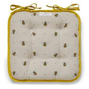 Béžovo-žlutý bavlněný podsedák Cooksmart ® Bumble Bees