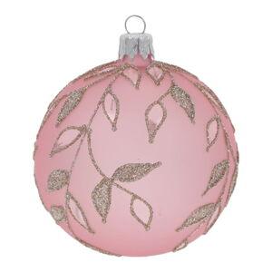 Sada 3 světle růžových vánočních ozdob Ego Dekor Ornaments