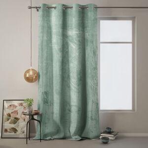 Mintově zelený závěs AmeliaHome Velvet, 140 x 270 cm