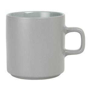 Šedý keramický hrnek na čaj Blomus Pilar,250ml