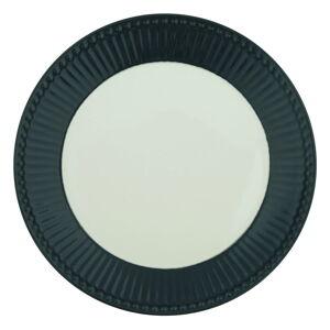 Bílo-šedý keramický talíř Green Gate Alice,ø23cm