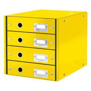 Žlutý box se 4 zásuvkami Leitz Office, délka 36 cm