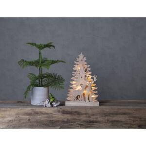 Vánoční dřevěná světelná LED dekorace Star Trading Fauna