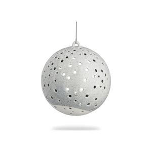 Šedé vánoční závěsný svícen z kostního porcelánu Kähler Design Nobili, ⌀ 12 cm