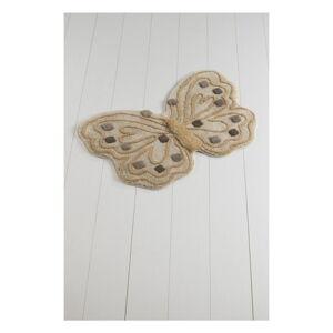 Koupelnová předložka Alessia Kelebek Brown, 70 x 120 cm