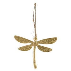 Velikonoční závěsná dekorace ve zlaté barvě Ego Dekor Dragonfly,10x8cm