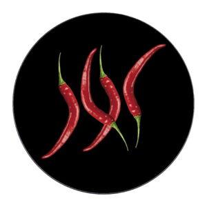 Skleněná podložka pod hrnec Wenko Hot Pepper, ø 20 cm