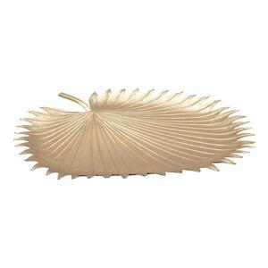 Dekorativní miska ve zlaté barvě Mauro Ferretti Leaf, 48x50cm