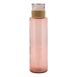 Světle růžová váza z recyklovaného skla Mauro Ferretti Rope Noa